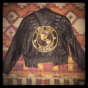 Jackets & Blazers - *FESTIVAL* Sequin patched vintage leather jacket